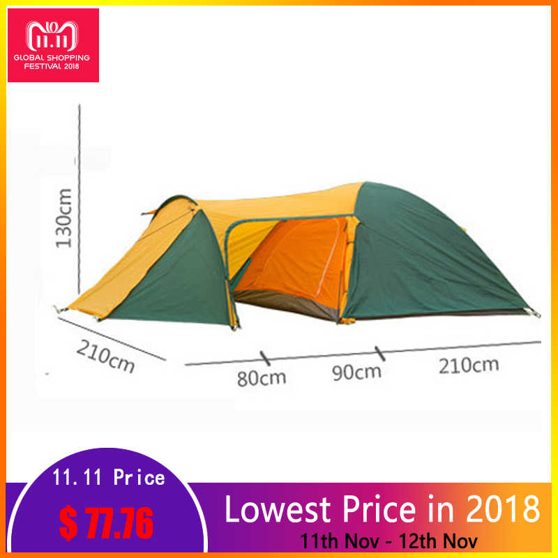 Tents for outdoor recreation tents Waterproof Double Layer 3 4 person Camping Tent Hiking travel Beach tent Camping equipment цена
