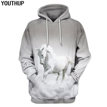 54a45285a5fb YOUTHUP 2019 New Men s 3d Hoodies Horse Design 3D Full Printed Hooded  Pullovers Hip Hop Male