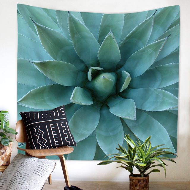 High Definition Cactus Tapestry Wall Hanging Mandala Indian Large Carpet Decor Cloth Decorative Tapestries Beach Blaket