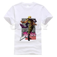 2019 New T-shirt Jojo Bizarre Adventure Thsirt Japan Anime Cartoon Black And White Summer Dress Men Tee Clothing Funny T Shirt