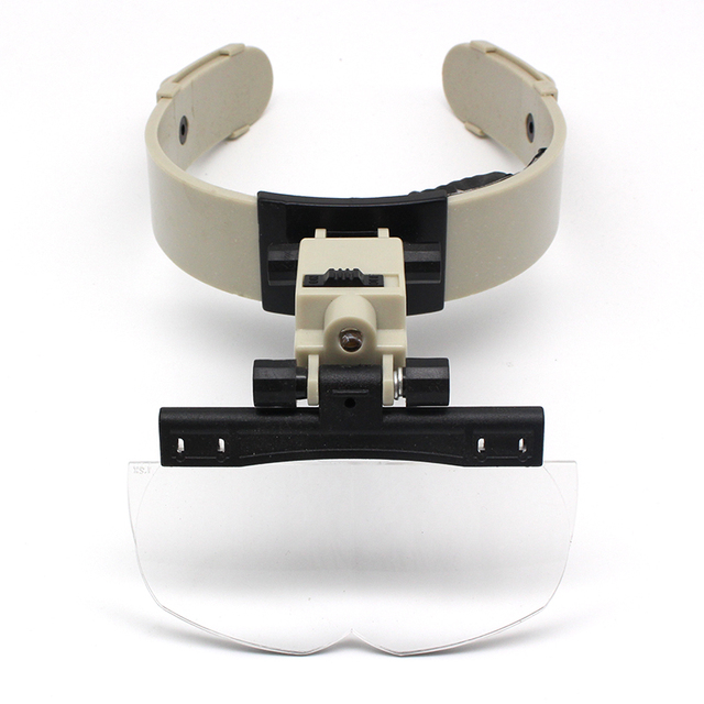 1.2X 1.8X 2.5X 3.5X Illuminated Helmet Headband Magnifying Glass Binoculars Magnifier Jewelry Repair Reading Headband Magnifier