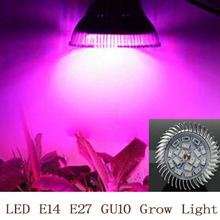 Full spectrum LED Grow light 18W E14 /E27/GU10 LED Grow lamp bulb for Flower plant Hydroponics system AC 85V 110V 265V grow box