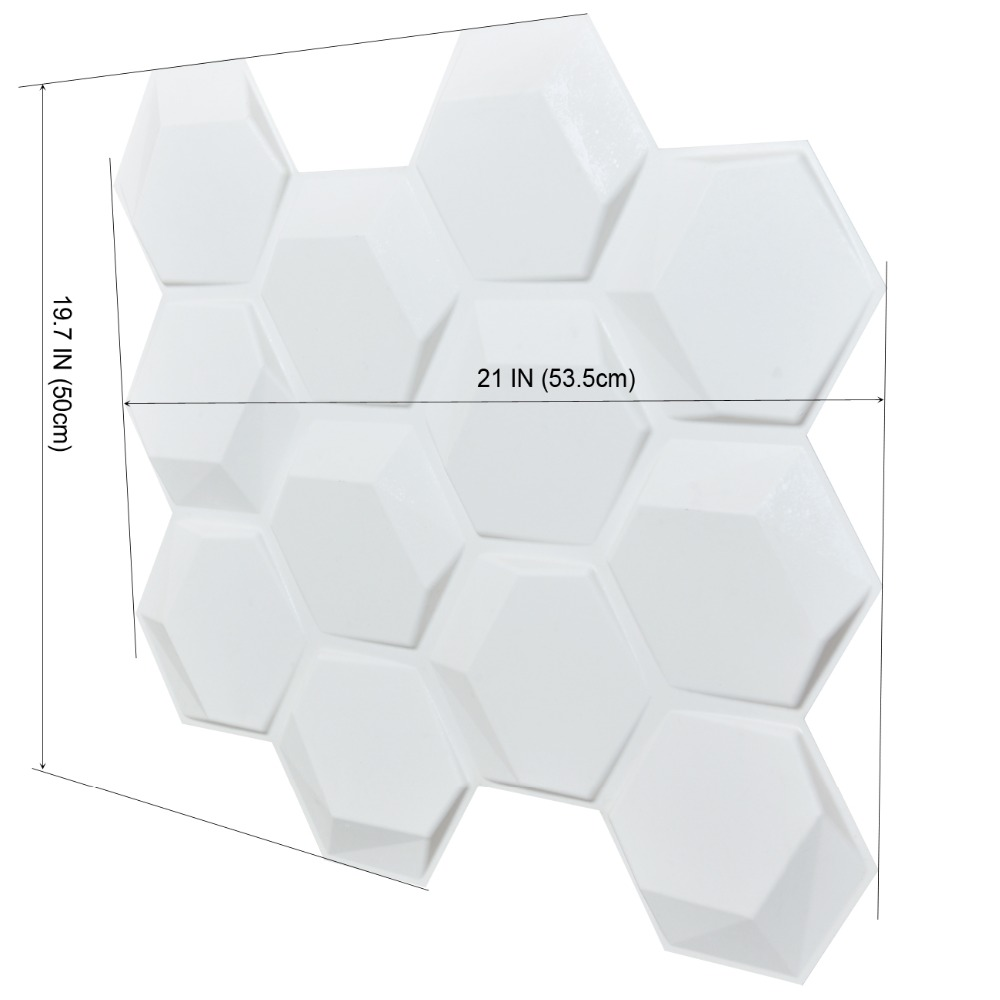 3D Wall Panels White Paintable Panels for Interior Wall Background Decor Logo