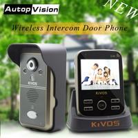 KDB302A 1V1 اللاسلكية جرس باب يتضمن شاشة عرض فيديو الذكية فيديو جرس باب إنتركوم كاميرا مع 1 مراقب/2-way الصوت/للرؤية الليلية/فتح عن بعد