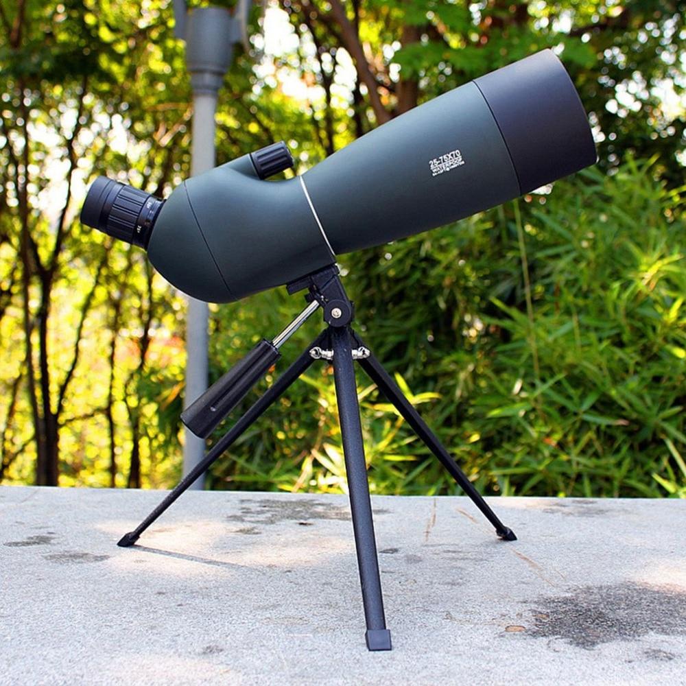 Spotting Scope SV28 Telescope Zoom 25 75X 70mm Waterproof Birdwatch Hunting Monocular Universal Phone Adapter Mount