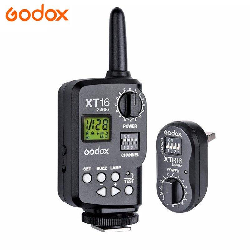 Godox XT 16 XT16 2.4G Wireless Strobe Flash Trigger for X1C X1N XT 16 Transmitter Trigger Wistro AD360 DE QT DP QS GS GT Series