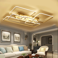 2017 New Modern LED Ceiling Light Square Circle Ring Ceiling Lamp Rectangle Acrylic Aluminum Indoor Lighting
