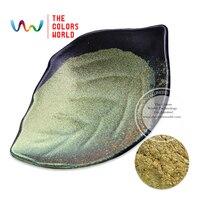 ירוק וצבע זהב TCWB-173 הסטה אפקט pearlescent קסם אבקת פיגמנט זיקית 1 Pack = 10 גרם