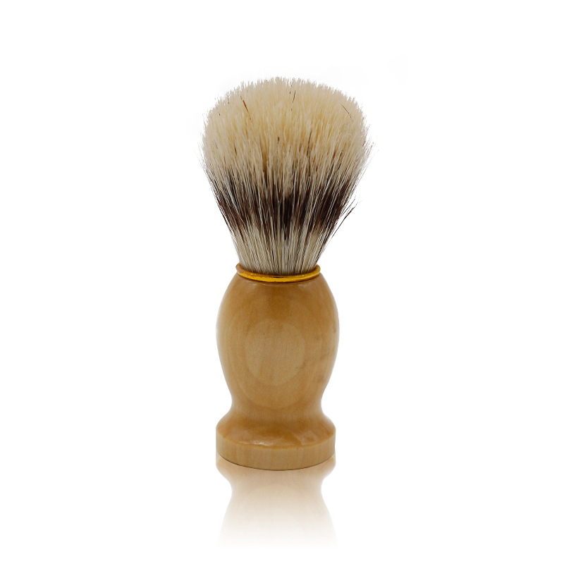 Mythus Barber Brush For Shaving Beard Hair Cleaning Appliance Tool Men's Moustache Care Grooming Shaving Brush With Wood Handle 1