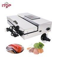 ITOP Домашнее использование пищевая вакуумная машина для упаковки герметика 30 см длина Полуавтоматическая электрическая вакуумная герметик