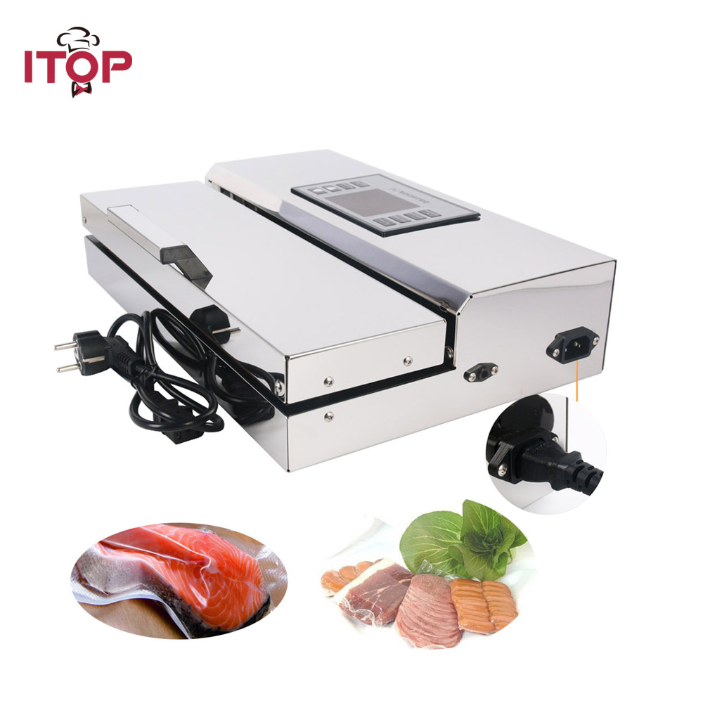 ITOP Home use Food Vacuum Sealer Packing Machine 30cm Length Semi automatic Electric Vacuum Sealers Food Processors-in Vacuum Food Sealers from Home Appliances