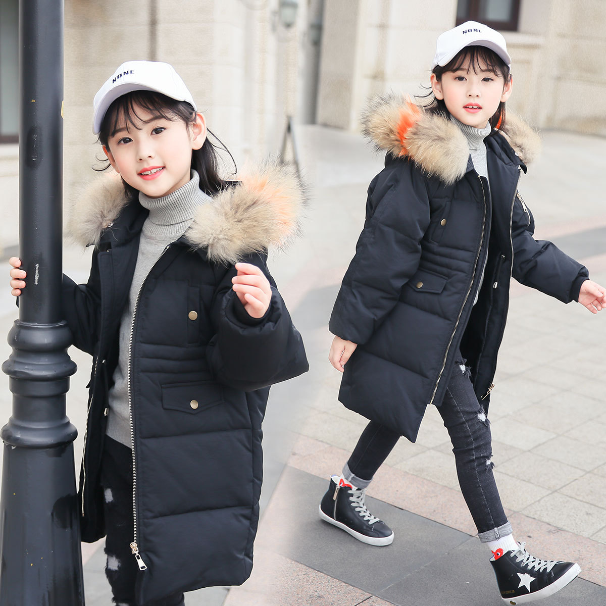 OLEKID 2018 Winter Down Jacket For Girl Warm Thicken Hooded Long Girls Winter Coat 7-14 Years Kids Outerwear Winterjas Meisjes 2015 new hot winter thicken warm woman down jacket coat parkas outerwear hooded splice mid long plus size 3xxxl luxury cold