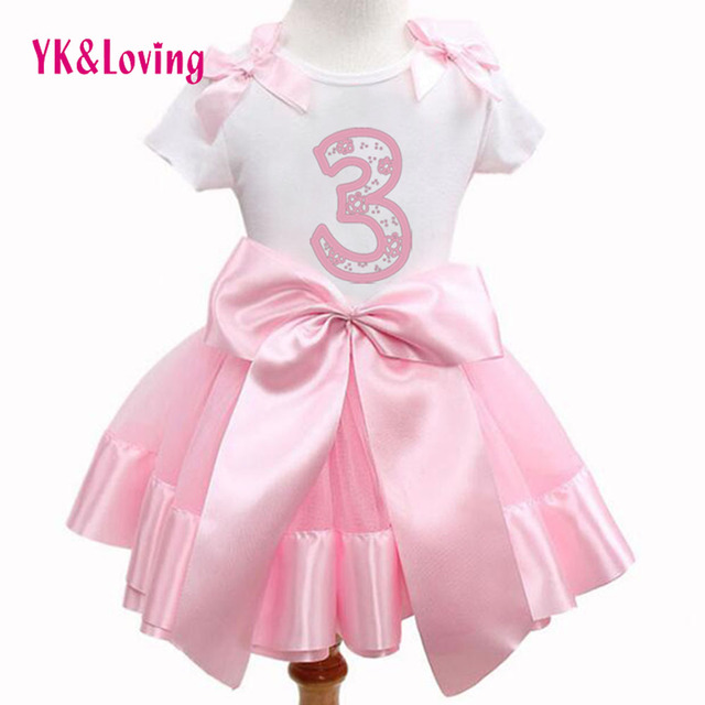 Pink kids dress sets for girls suit for 1-8 years Cartoon printed customized style Short T shirt New summer Children Clothing