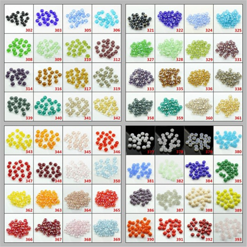 Double Color Quartz Glass Beads 6MM 100pcs/lot Crystal Beads Faceted Rondelle Beads for Accessories Craft In Bulk Wholesale