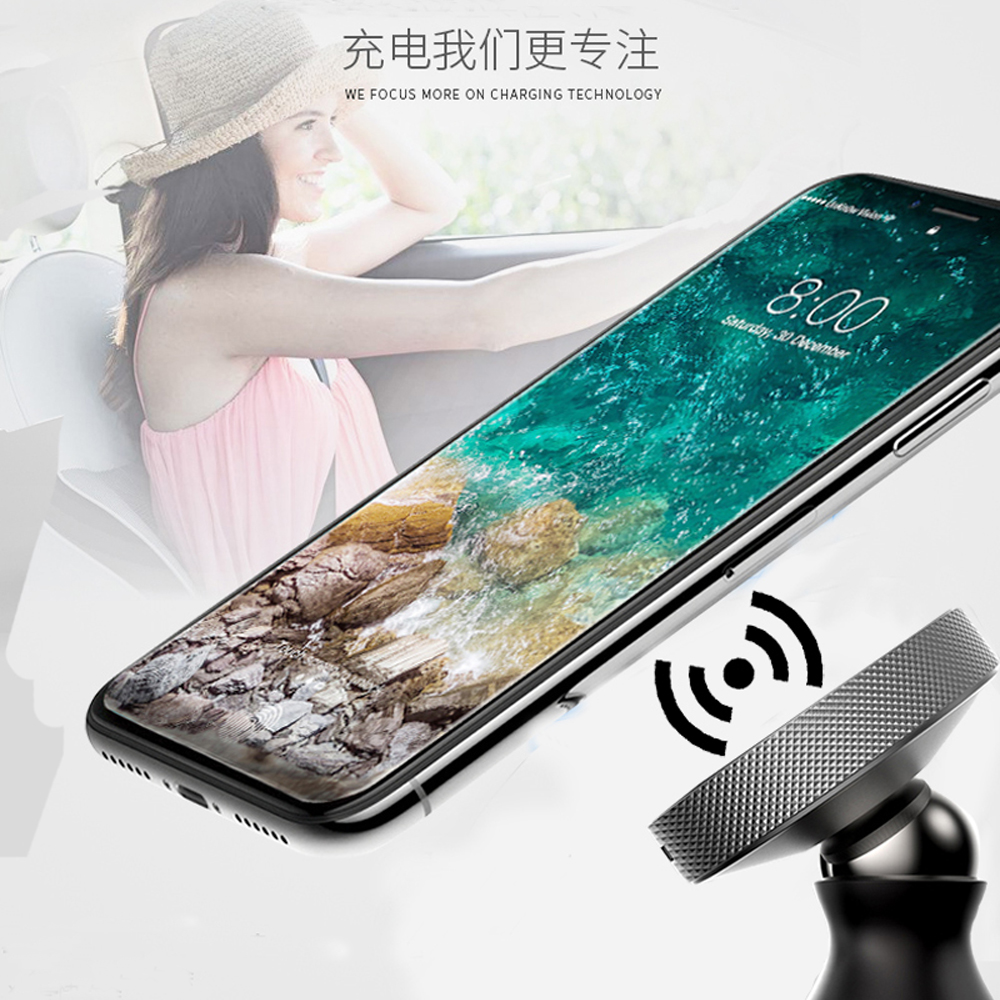 Original Portable Qi Magnetic Wireless Charger for iPhone X 8 8 Plus Samsung S8 S7 S6 Fast Charging Magnet Car Smartphone Holder