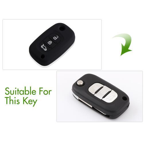 Silicone Car Key Case Cover For LADA Priora Sedan Sport Kalina Granta Vesta X-Ray XRay Remote Key Shell Fob Auto Parts