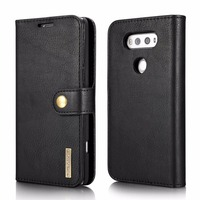 DG MING Luxury PU Leather Cover Magnetic With 3 Card Slot Wallet Flip Case For LG