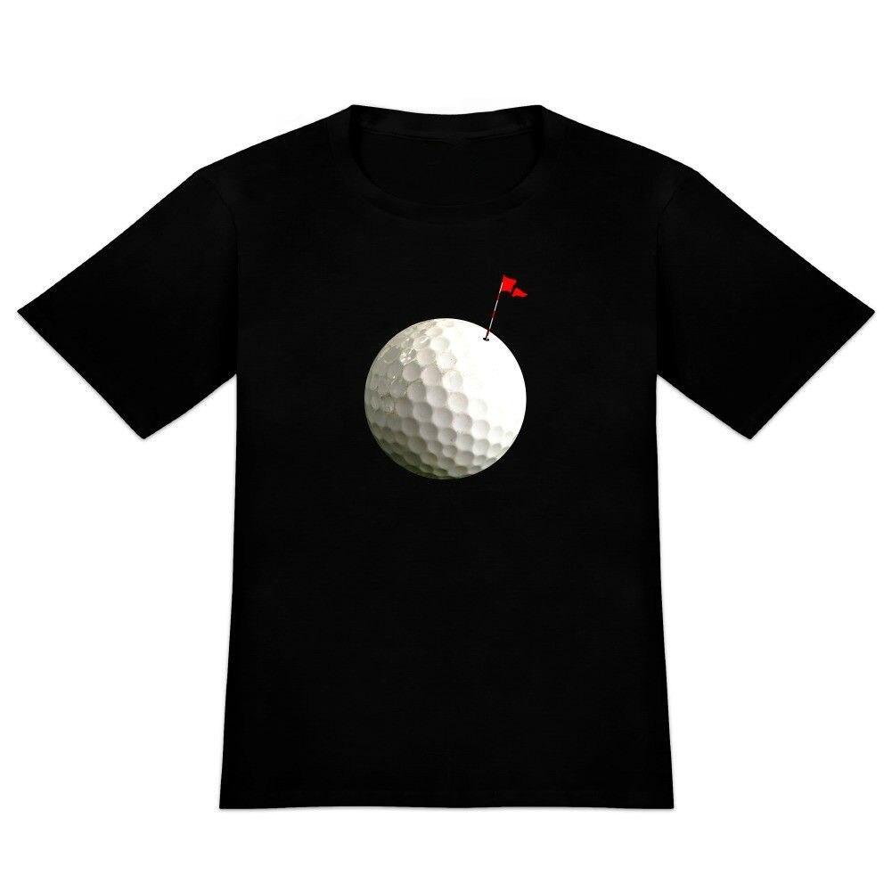 Men Summer Style Golfed Ball Moon Flag Golfing Mens Novelty T-Shirt