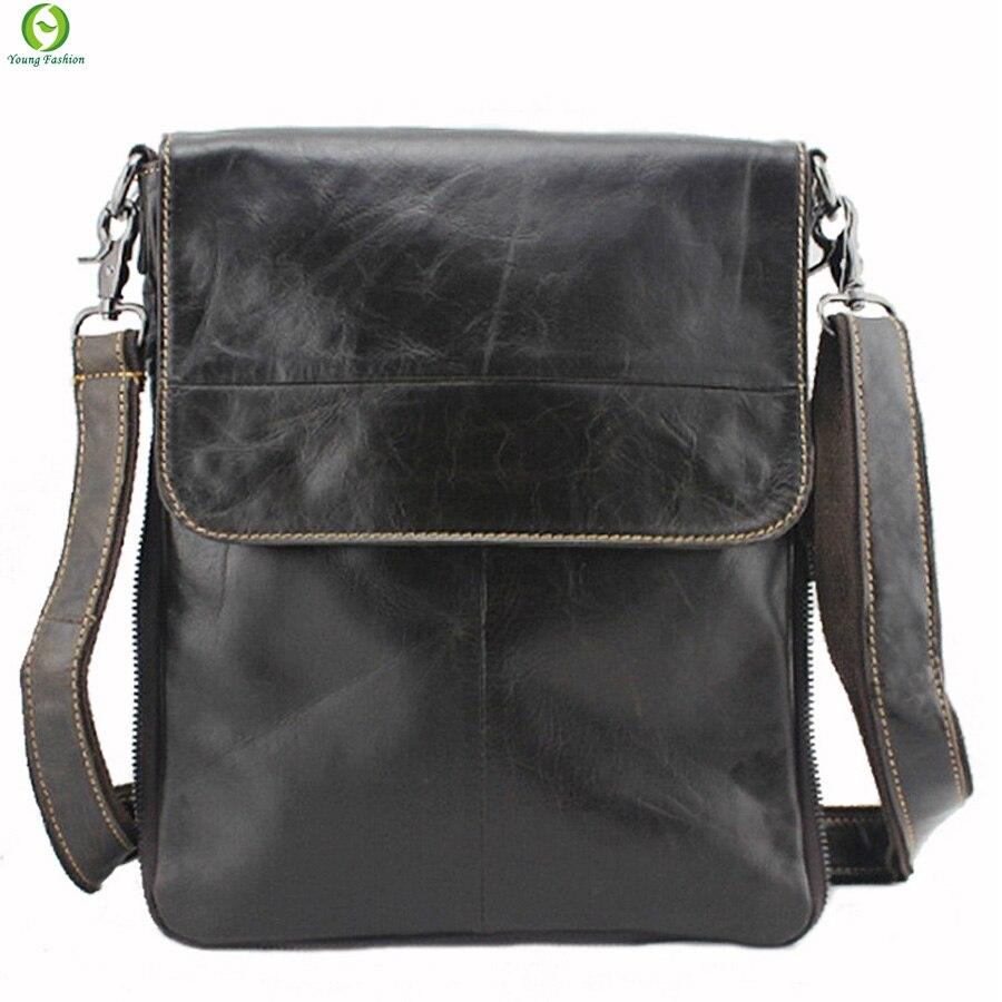 8115a9661dd3 100% натуральная кожа мужчины сумки мужские портфель старинные люди сумка  сумки на ремне Ipad черно сундук натуральной кожи сумки купить на