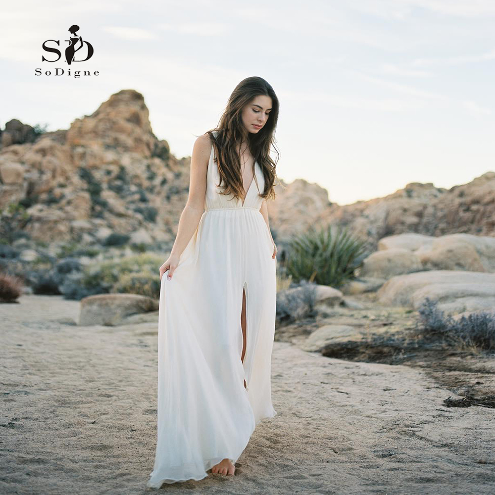 Cheap Elegant Wedding Dresses: Aliexpress.com : Buy Deep V Neck Bride Dress Sexy Simple