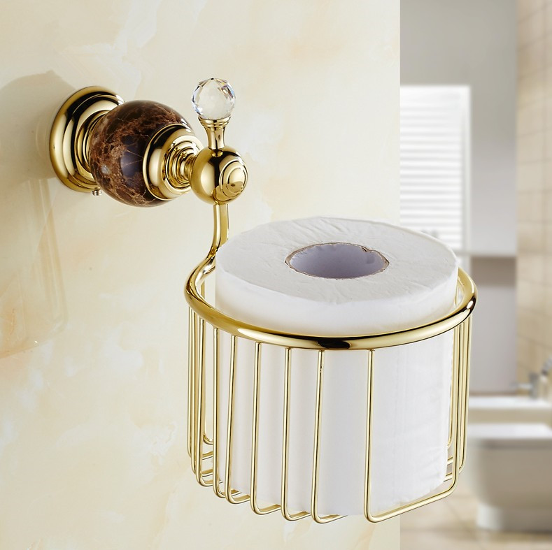 Online Get Cheap Gold Bathroom Accessories Basket Aliexpress Com