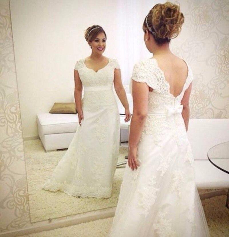 Cheap Elegant Wedding Dresses: Simple Elegant Wedding Dress Plus Size Vintage Lace Bride