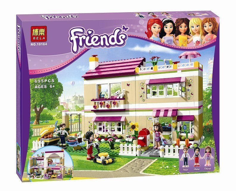 695pcs Girls Friends Set Series City Olivia House Doll Building Brick Block CASA Toy Gift Compatible With Lepin 10164 2017 hot sale girls city dream house building brick blocks sets gift toys for children compatible with lepine friends