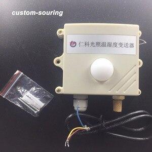 Image 1 - Бесплатная доставка 0 200000lux 3в1 светильник датчик интенсивности/RS485 протокол modbus датчик температуры и влажности