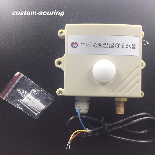 Бесплатная доставка 0 200000lux 3в1 светильник датчик интенсивности/RS485 протокол modbus датчик температуры и влажности