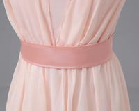 с с V-образным вырезом бледно-розовый шифон платья подружки невесты небесно-голубой шампань длинное платье подружки невесты рекламная цена sw0050-29 сладкая память