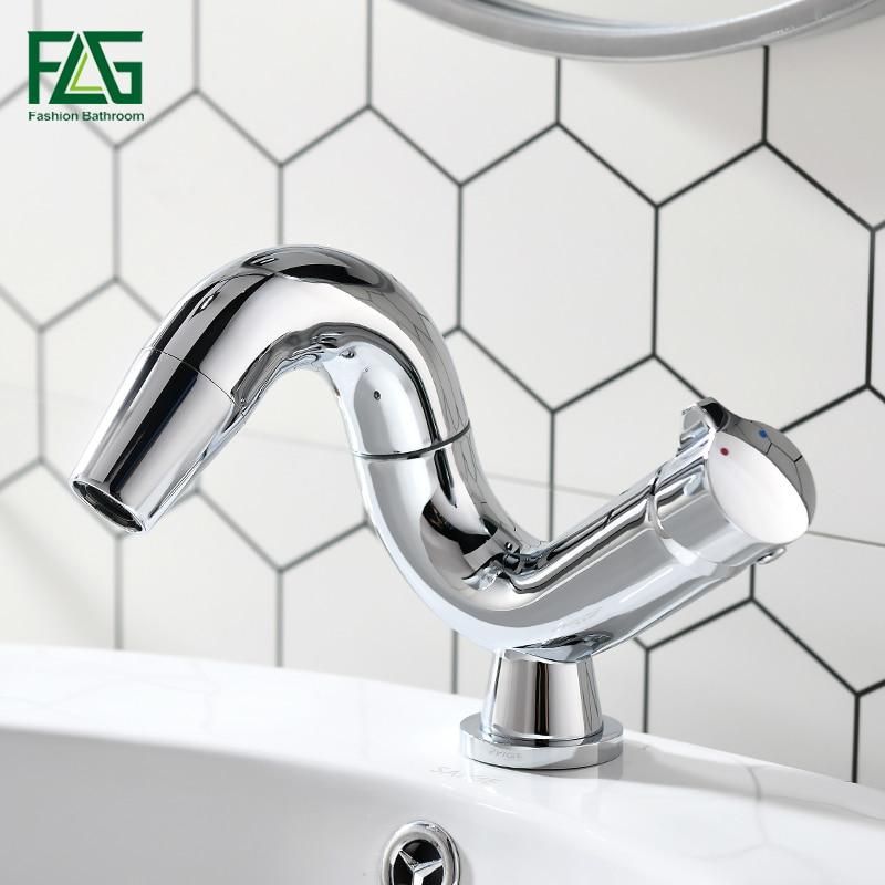 Flg bathrom torneira para pia de água quente e fria contemporânea 360 graus rotação bronze única alavanca torneira da bacia lavagem
