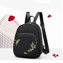 Canvas rucksacks embroidery simple girls school bag ladies mini backpack