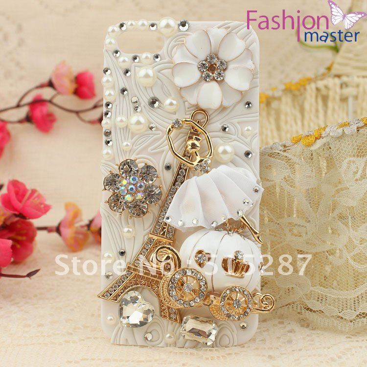 sports shoes 1abba 62ab9 US $11.95 |mobile phone Case Cover for iphone4/4s,bling Rhinestone Crystal  Diamond flower,ballet dance girl,pumpkin car,The Eiffel Tower on ...