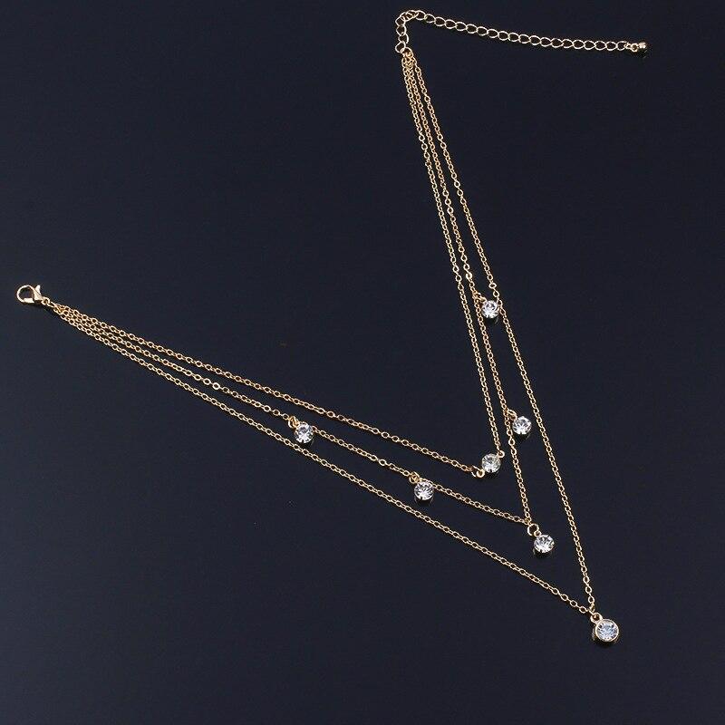 Genossenschaft Mode Multilayer Kristall Erklärung Halskette Anhänger Schlüsselbein Choker Kette Halsketten Für Frauen NüTzlich FüR äTherisches Medulla