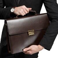 YINTE мужская сумка для ноутбука кожаная сумка на плечо Новая мода Черный 14 дюймов Компьютерная сумка бизнес портфель для мужчин портфель T8058 5