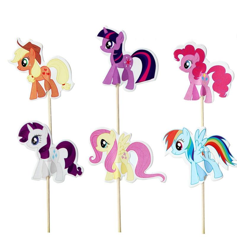 36pcs/lot My Little Pony Cupcake Topper Cartoon Muffin ...