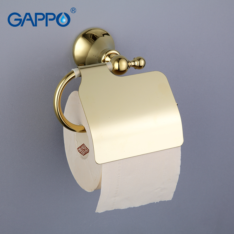 GAPPO High quality Gold Wall-mount Stainless Steel Cover Toilet Paper Holder Zinc-Alloy Mounting Seat Bathroom accessoriesG1403 indesit ewuc 4105