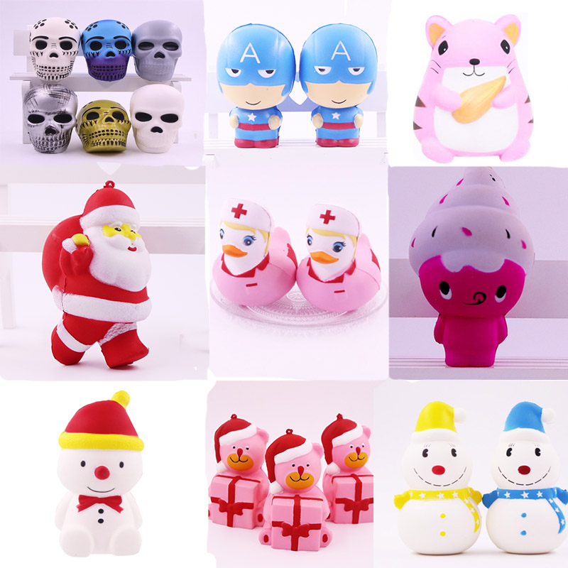 New Unicorn Wholesale Squishies Slow Rising Jumbo Kid Toys Animal Squishy Slow Rising Phone Straps Sweet Scented Bread Cake Toy slow rebound and decompression toy strawberry cake jumbo squishy