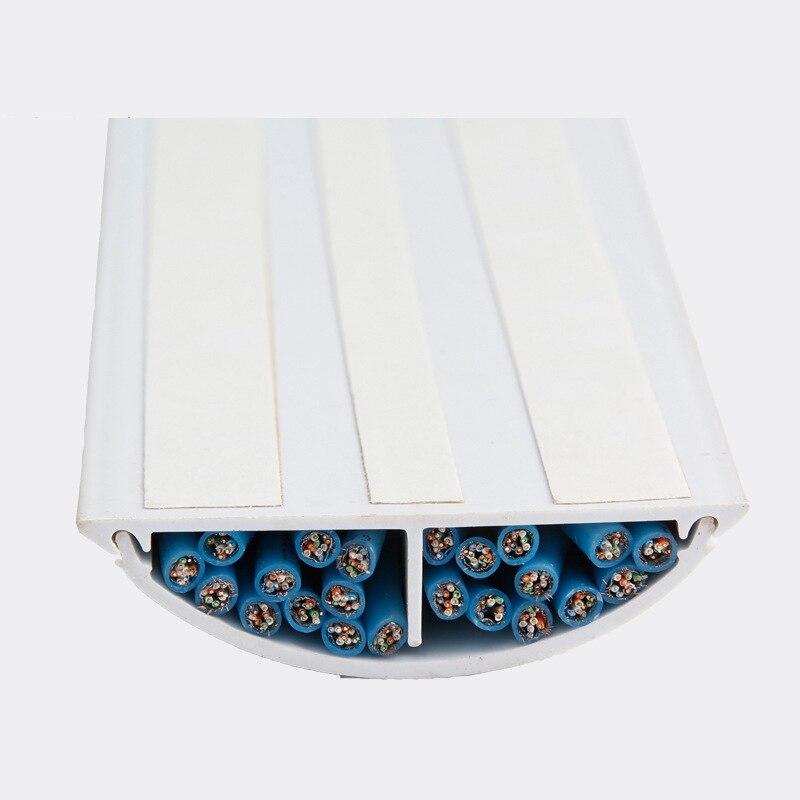 Floor Cable Tidy Cover 1m,2m,3m,4m,5m,6m,7m,8m,9m Grey and Red Floor Cable Cover 67mm x 14mm Floor Cable Protection 1m