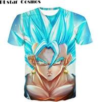 Dragon Ball Z T Shirt Super Saiyan 3d T Shirt Tees Tops Animation 3d Vegeta Hip