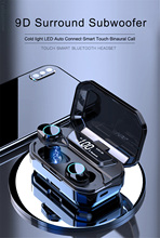 G02 TWS 5.0 Bluetooth 9D Stereo Earphone Wireless Earphones IPX7 Waterproof Headphones 3300mAh LED Smart Power Bank Phone Holder