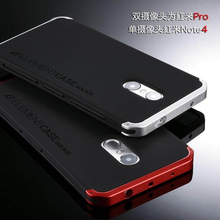imágenes para De Moda de lujo de Metal Cubierta de la Caja Protecive para Xiaomi Redmi Nota 4/Xiaomi Redmi Caso Pro Teléfono Móvil Envío Gratis