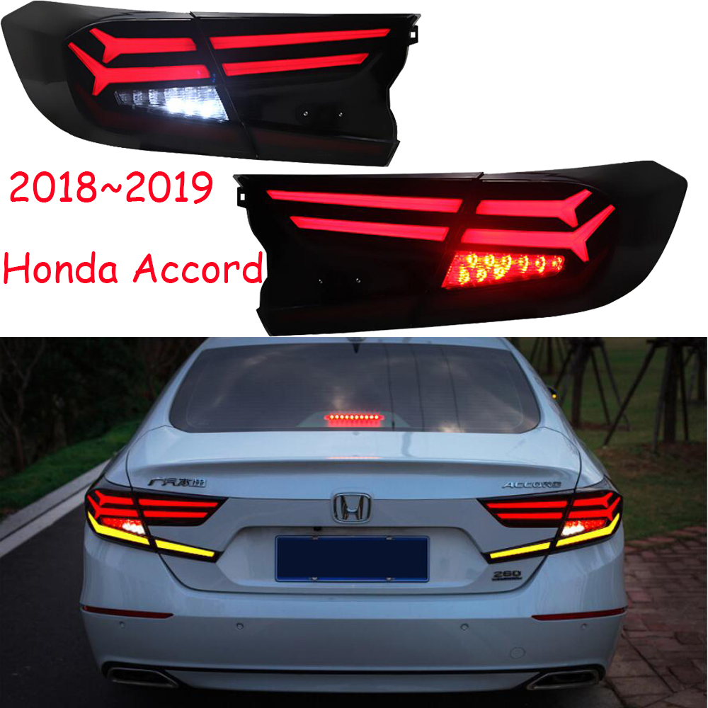Car Styling for Accord 2018 Tail Lights Accord 10th LED Tail Light Spirior Rear Lamp LED