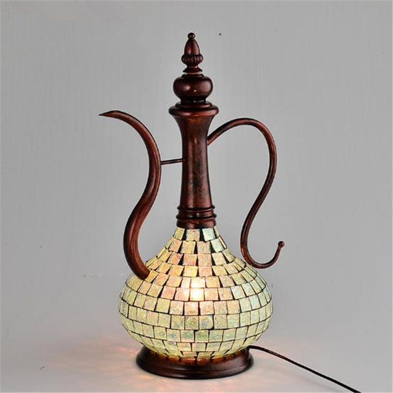New Classical Bohemia Style Individuality Retro Concise Iron Table Light Bedroom Office Decoration Lamp Free Shipping