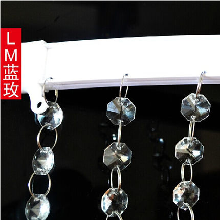 Crystal bead Curtain track Screen Tool Windows And Balconies Bending Curtain  Rod Straight Rail Steel 1meter