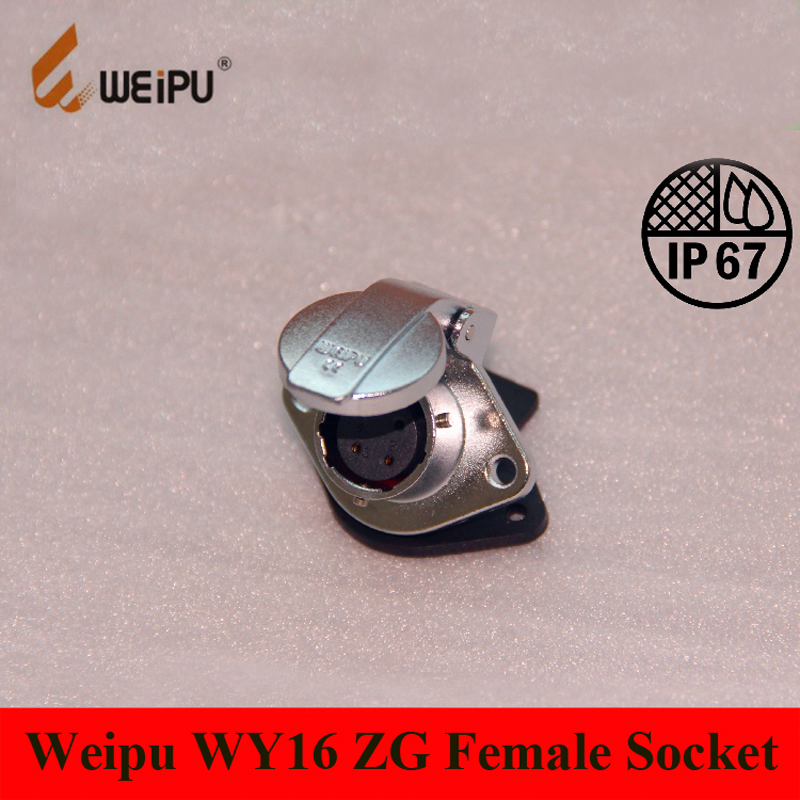 Original Weipu Connector WY16 ZG Cable Socket 2 3 4 5 7 9 10 Pin Female ZG 2-hole Flange Panel Mount Socket