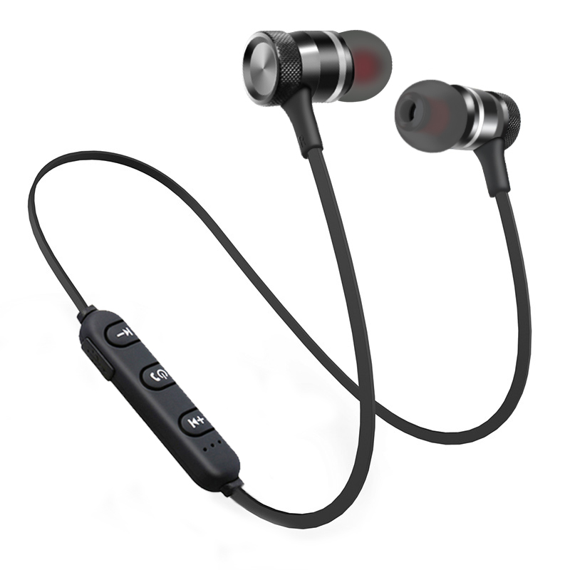 e058f28597e New Stereo Bluetooth Headphones Wireless Sport Earphone Metal Magnetic Headset  Handsfree Earbuds with Mic for Phone