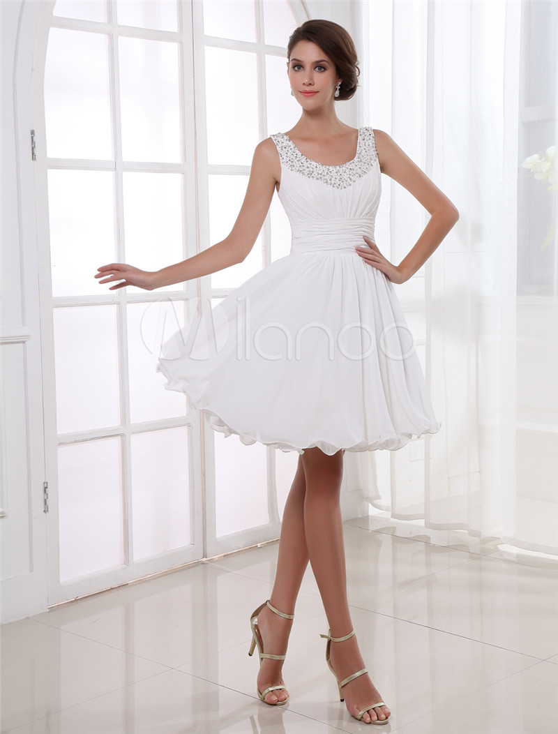 Aliexpress.com : Buy 2014 Brand Beading Sexy A line White Prom ...