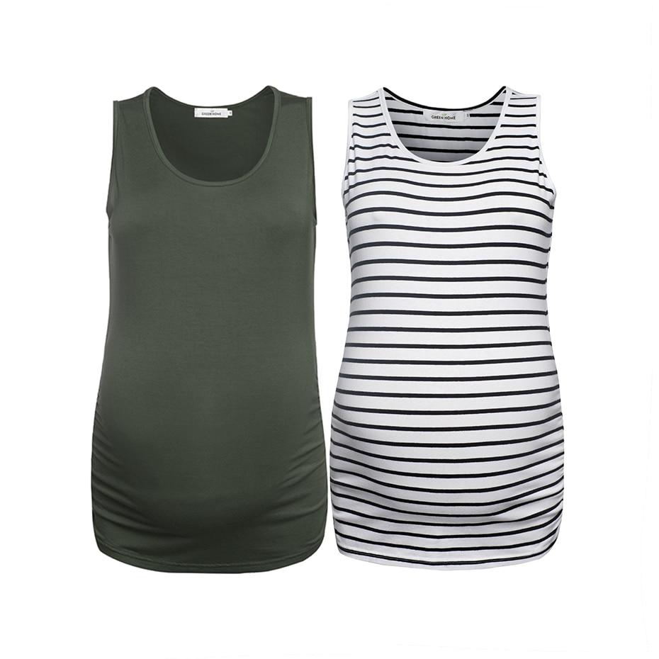 6bb6c2a73717d Green Home 2 PC Summer Pregnancy Camis Maternity Tank Tops Elastic ...