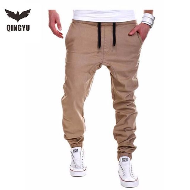 Corredores dos homens 2016 marca calças masculinas calças dos homens casuais calças moletom sólida tamanho grande tamanho xxxl khaki jdwa